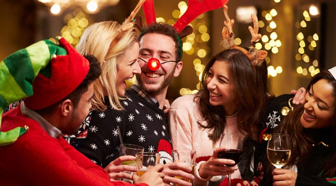 people enjoying a holiday party
