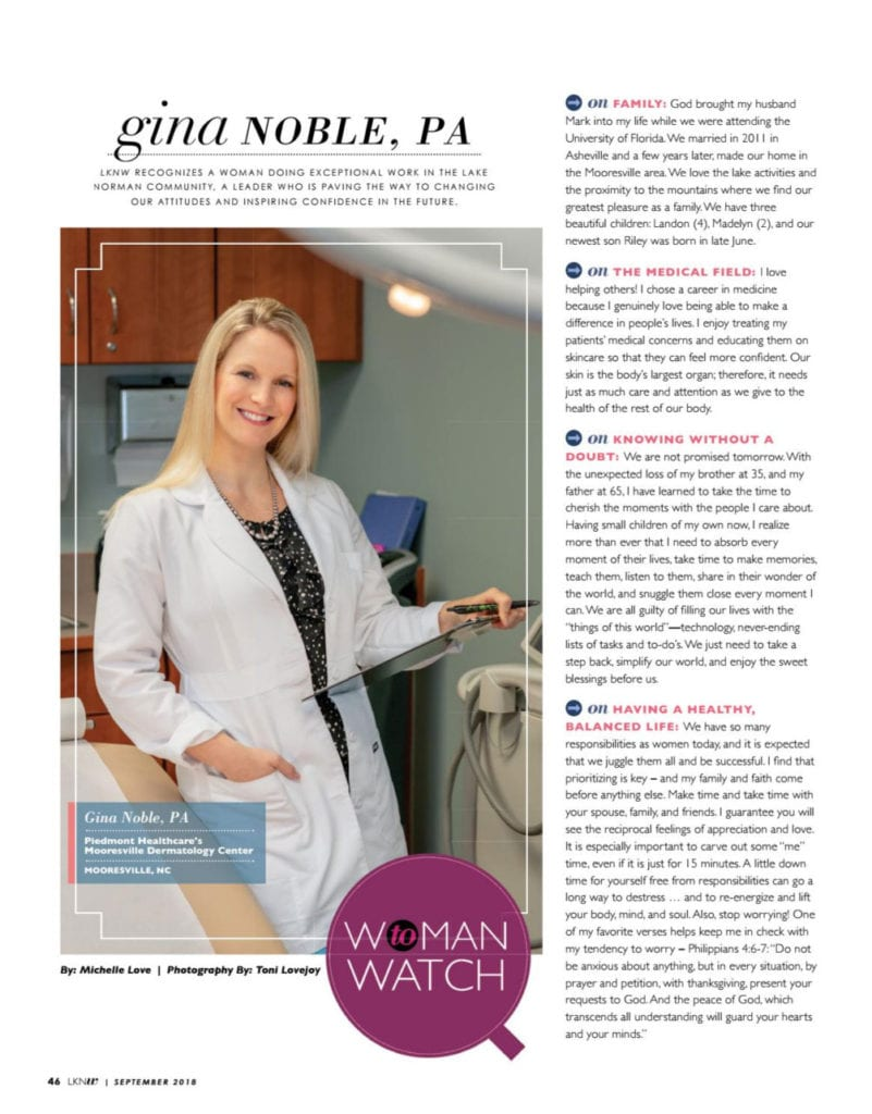 Gina Noble Article