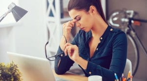 woman that is stressed
